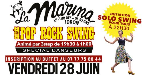 Soirée rock/swing à la Marina avec Initiation en Solo Swing avec Alexandra le 28/06/2019